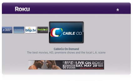 Generic cable-branded Roku channel