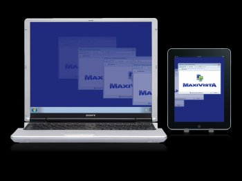 MaxiVista turns the iPad into a wireless Windows PC screen extender