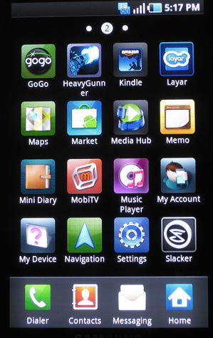 Samsung TouchWIZ 3.0 for Galaxy S devices (drawer)