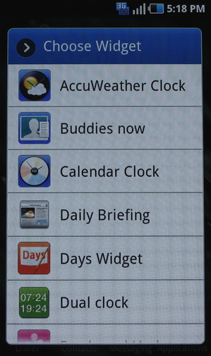 Samsung TouchWIZ 3.0 for Galaxy S devices (Samsung Exclusive Widgets)