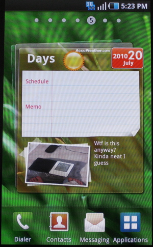 Samsung TouchWIZ 3.0 for Galaxy S devices (Days Widget)