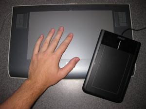 Bamboo size comparison to Wacom Intuos 3