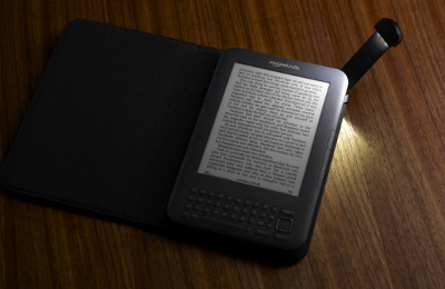 Amazon Kindle's self-lighting case