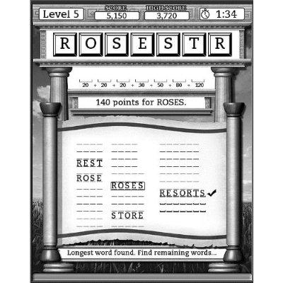 """Amazon Kindle game """"Every Word"""""""