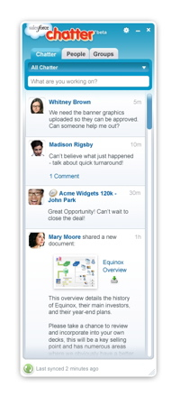 Salesforce Chatter desktop client