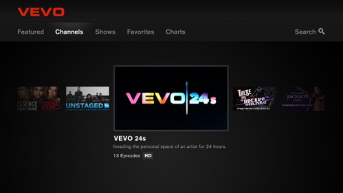 VEVO channel on Google TV