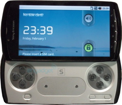 Engadget's shot of Sony Ericsson PlayStation Phone