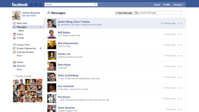 Facebook's new messaging system