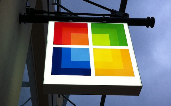 Microsoft Store sign