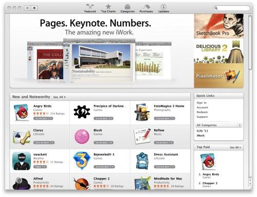 Mac App Store Front