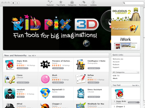 Mac App Store Featured