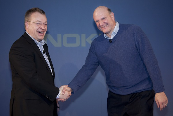 Stephen Elop and Steve Ballmer
