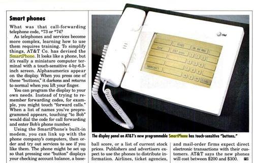 Popular Science shows SmartPhones in 1990