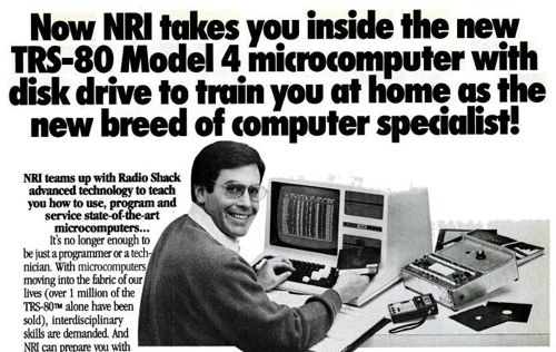 TRS-80 Microcomputer with disk drive! 1980