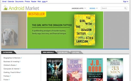 Android Market books