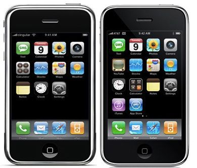 First and Second Generation iPhones