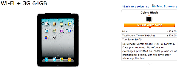 AT%T discounted iPad 3G