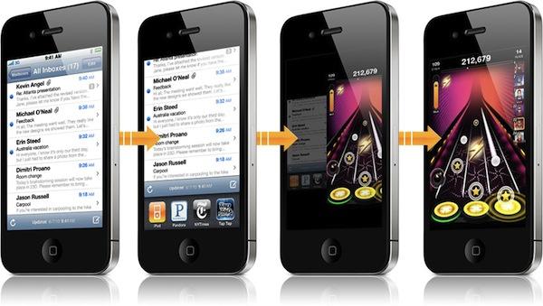 iPhone 4 multitasking