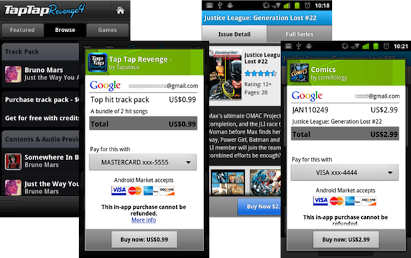 Android in-app billing