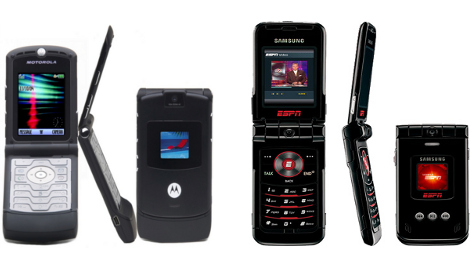 Motorola Razr (left) Samsung SCH-A900 (right)