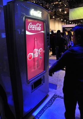 Samsung prototype vending machine at CES 2009
