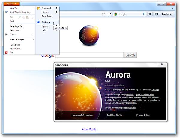 Mozilla Aurora