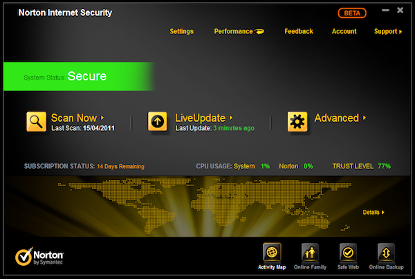 Norton Internet Security Suite 2012 beta