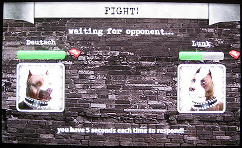 Fight screen, waiting for other player's move in Dog Wars for Android