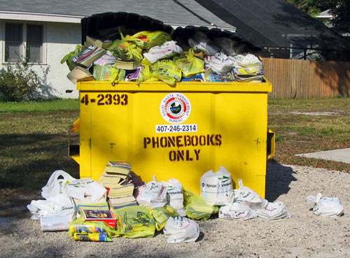 Yellow Pages Dumpster