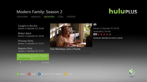 Hulu Plus for Xbox