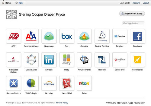 VMware Horizon App Manager for end users