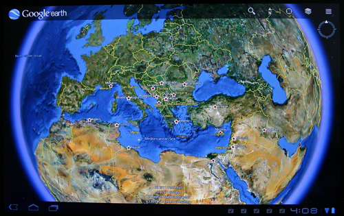 Google Earth for Android Tablets (Honeycomb)