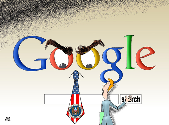 """Google and the Spooks"" from Xinhua News Agency, 2010"