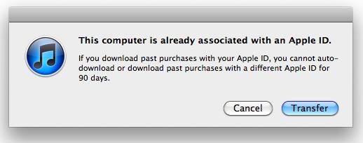 iTunes 10.3 sync notice
