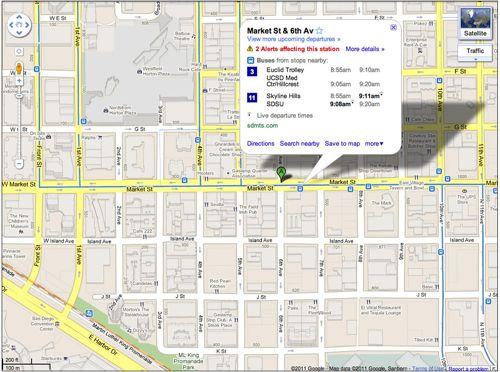 Google Maps real-time Transit for desktop browsers