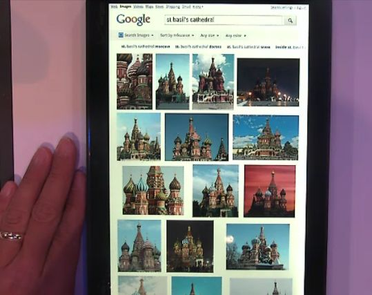 Google Image Search optimized for tablets