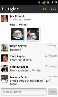 """Google  """"Huddle"""" for Android"""