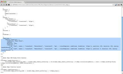 Adobe Edge public preview 1 (pure HTML)