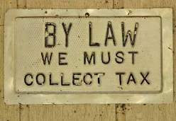 By law we must collect tax