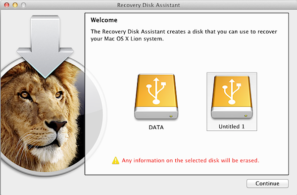 Lion Recovery Disk