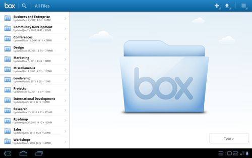 Box for Android Honeycomb