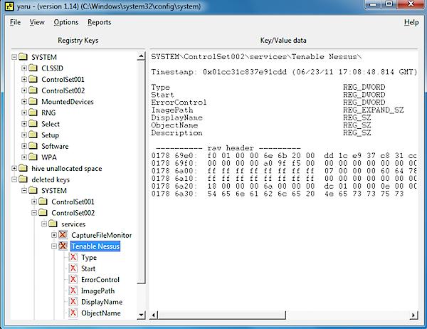 Lost a Windows Registry key? Yaru can recover it